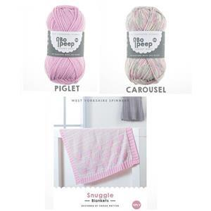 West Yorkshire Spinners Bo Peep 4 ply Heart Snuggle Blanket Kit