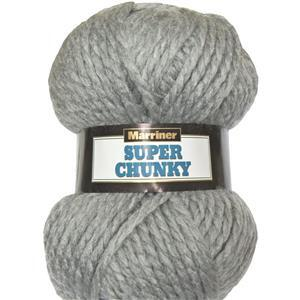 Marriner Silver Super Chunky Yarn 100g
