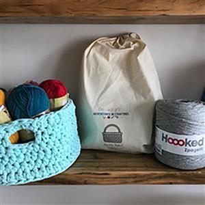 Adventures in Crafting Grey Crochet Basket Kit