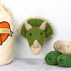 Sincerely Louise Green Mini Triceratops  Head Knitting Kit