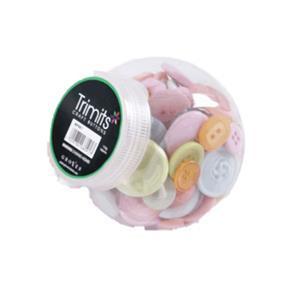 Button Jar Pastels Mix