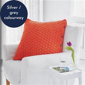 Silver Grey Bobble Stitch Cushion Yarn Pack