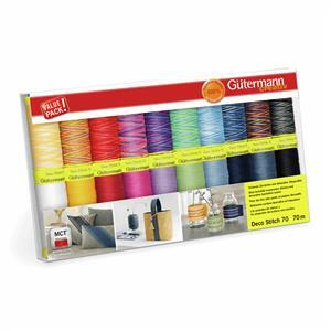 Gutermann Deco Stitch 70 Thread Set Assorted Colours 20 x 70m Assorted.