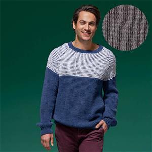 WYS ColourLab Hazel Brown Sal Ribbed Raglan Men's Sweater Yarn Pack