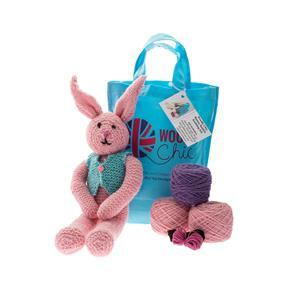 Woolly Chic Pink Bunny Rabbit Knitting Kit