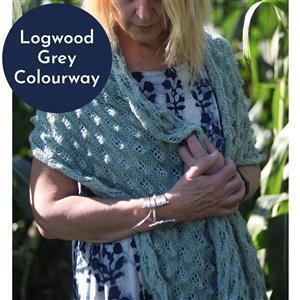 In The Wool Shed Logwood Grey The Chaadar Shawl Kit