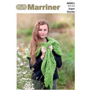 Marriner Lacy Knit Shawl Knitting Pattern