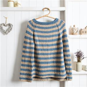 Wool Couture Wheat/River Rosie Jumper Knitting Kit: Large/Xlarge