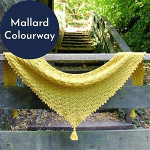 Anna Nikipirowicz Mallard Nettie Shawl Kit - Pattern and 3 x 100g Balls of Yarn