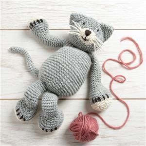 Wool Couture Grey Chloe Cat Knitting Kit