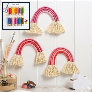 Wool Couture Over The Rainbow Trio of Rainbows Macramé Kit