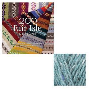200 Fair Isle Designs Book by Mary Jane Mucklestone: with 50g of Rowan Felted Tweed Yarn F