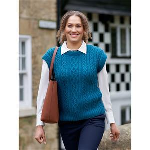 WYS Brook Ilkley Cabled Vest Yarn Pack (28-42in)