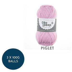 WYS Piglet Bo Peep Luxury Baby  4 Ply: 3 x 100g