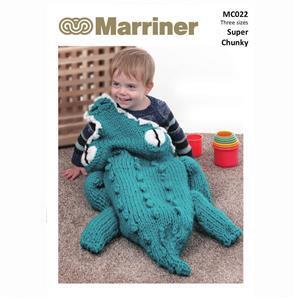 Marriner Crocodile Cocoon Knitting Pattern