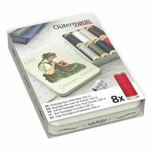 Gutermann Sew-All Nostalgic 1925 Thread Box Classic Shades 8 x 100m