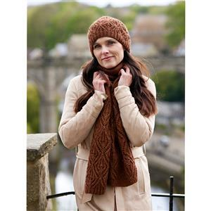 WYS Umber Redmire Lace Hat and Scarf Yarn Pack