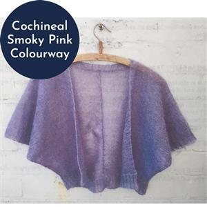 In The Wool Shed Cochineal Smoky Pink Emily Bolero Kit