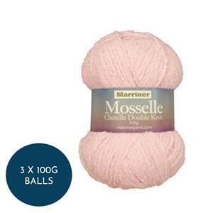 Marriner Pink Floss Mosselle Chenille Style DK: 3 x 100g balls