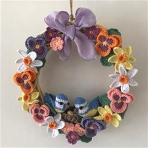 Adventures in Crafting Spring Wreath Crochet Kit