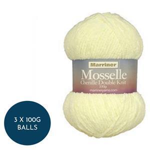 Marriner Silk Mosselle Chenille Style DK: 3 x 100g balls