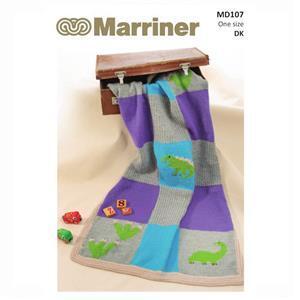 Marriner Dinosaur Blanket Knitting Pattern