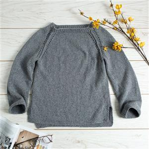 Wool Couture Grey Eve Jumper Knitting Kit: Small/Medium