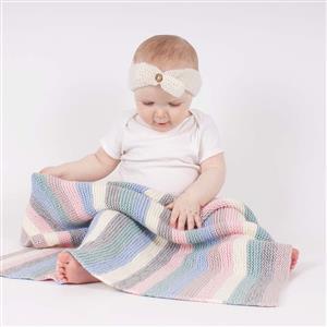 Wool Couture Stripy Baby Blanket Knitting Kit