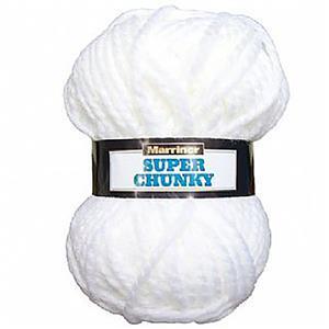 Marriner White Super Chunky Yarn 100g