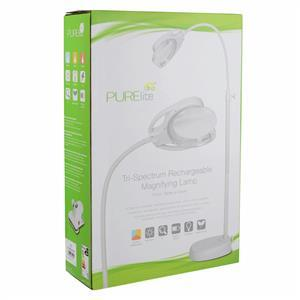 PURElite Tri Spectrum Rechargeable Magnifying LED Floor, Table and Desk Lamp
