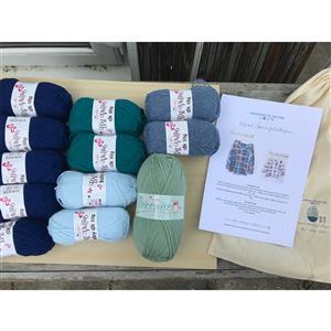 Adventures in Crafting Blue Skies Children's Casual Granny Cardie Kit