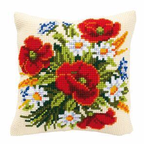 Flowers Needlepoint Cushion Kit