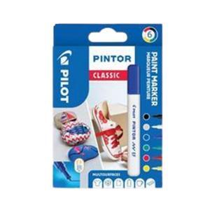 Extra-Fine Wallet of 6 Classic Colours Fabric Pens