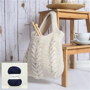 Wool Couture Oxford Blue Cable Bag Kit