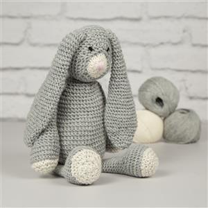 Wool Couture Grey Mabel Bunny Knitting Kit