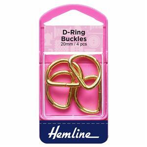 Gold D Rings 4 Pieces 20mm