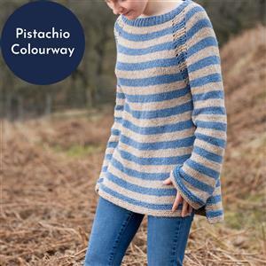 Wool Couture Grey/Pistachio Rosie Jumper Knitting Kit: Small/Medium