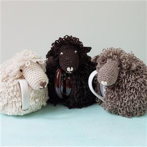 Woolly Chic Natural Sheep Crochet Tea Cosy Kit