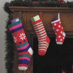 Christmas Stockings Set of Three Knitting Kit