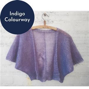 In The Wool Shed Indigo Emily Bolero Kit
