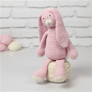 Wool Couture Pink Mabel Bunny Knitting Kit