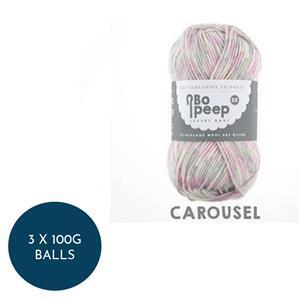 WYS Carousel Bo Peep Luxury Baby 4 Ply: 3 x 100g