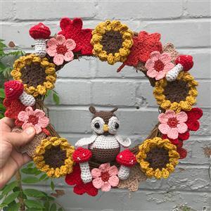 Adventures in Crafting Autumn Wreath Crochet Kit