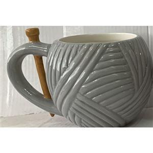 YARN LANE LOVES - Grey Yarn Mug
