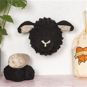 Sincerely Louise Black Giant Sheep Head Knitting Kit