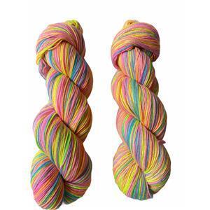 Twink Knits Bright Rainbow Sparkle 4 Ply Yarn 100g