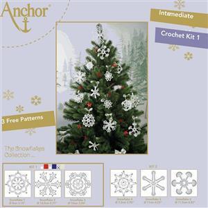 Snowflakes in White & Gold Crochet Kit