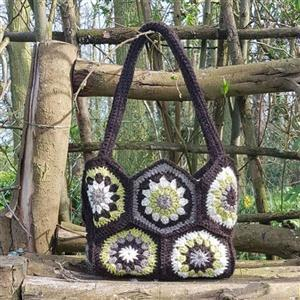 Woolly Chic Hexagon Handbag kit with Sewing Pattern
