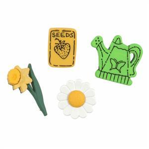 Gardening Buttons Pack of 4