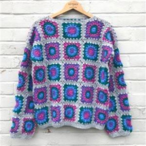 Adventures in Crafting Brights Granny Square Jumper